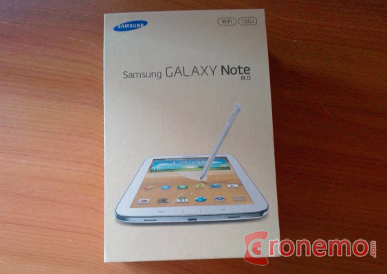 samsung Galaxy Note 8 package