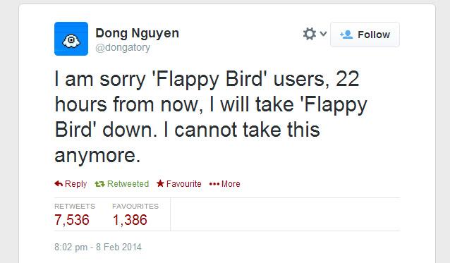 TweetCreateurFlappyBird