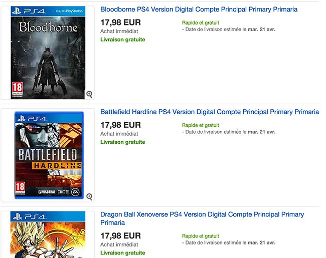 Jeux PS4 pas cher